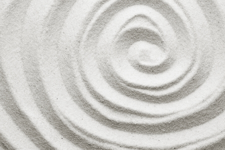 traditional wellness: Spiral in the sand