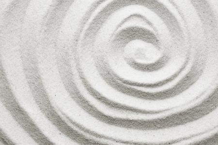 Spirale dans le sable Banque d'images