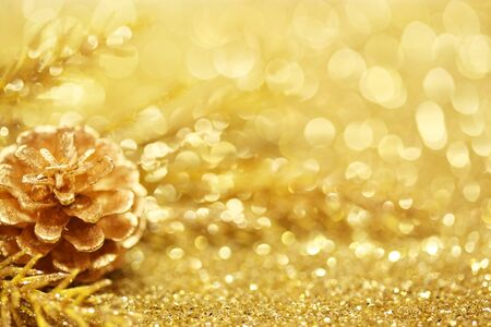 xmas background: Gold Christmas background