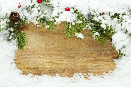Christmas snow background photo