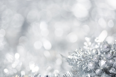 xmas background: Silver Christmas background