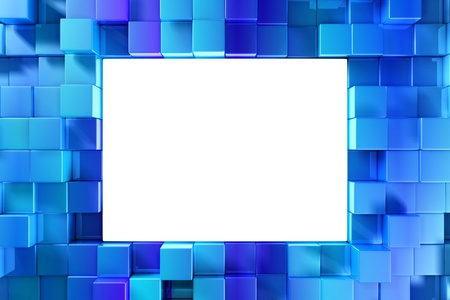 Shiny blue blocks photo