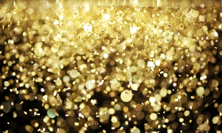 Bright gold glitter photo