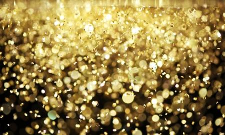 confetti background: Bright gold glitter