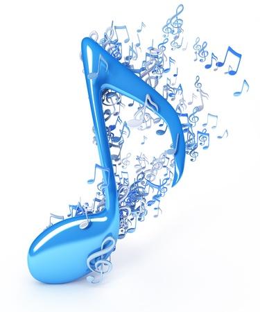 Muziek noten Stockfoto