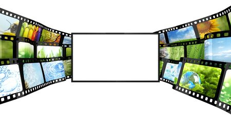 35mm: Filmstrip with blank TV