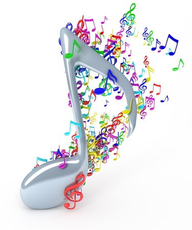 music 3d: Music notes