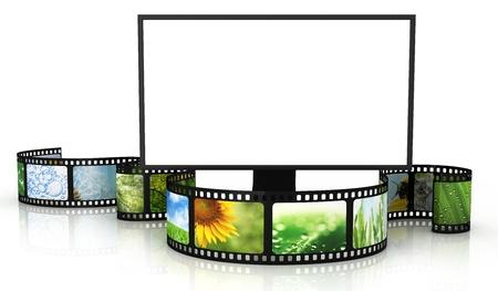 빈 TV와 필름 스톡 콘텐츠