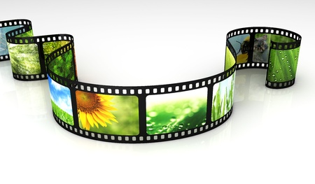 Filmstrip with images Stock Photo