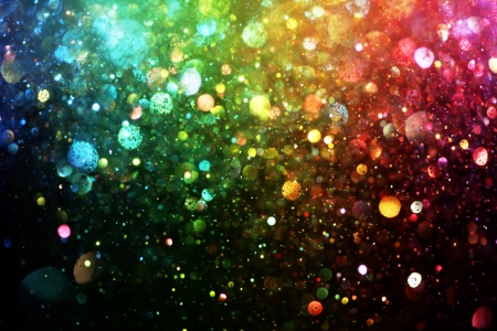 vibrant colors fun: Rainbow of lights Stock Photo