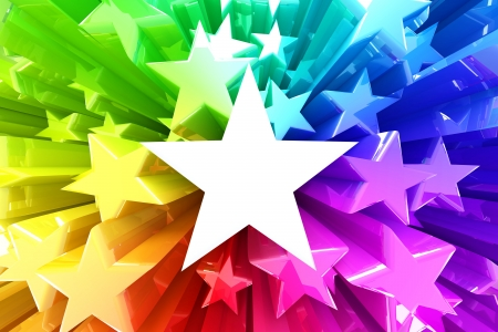 rainbow color star: Colorful burst of stars