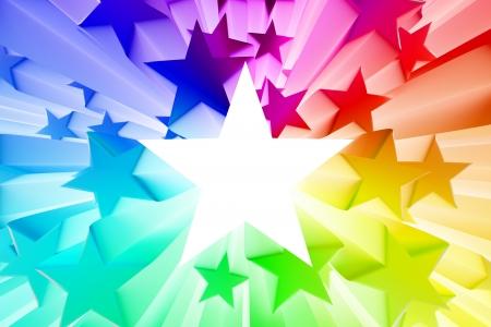 star award: Colorful burst of stars