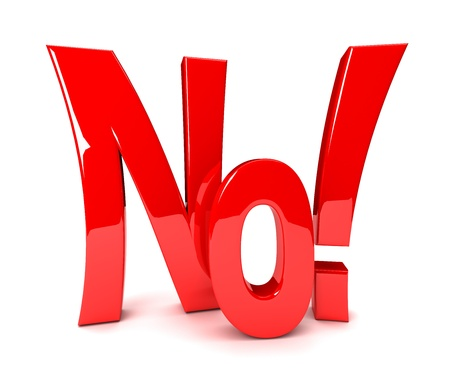 yes or no: No - 3d text