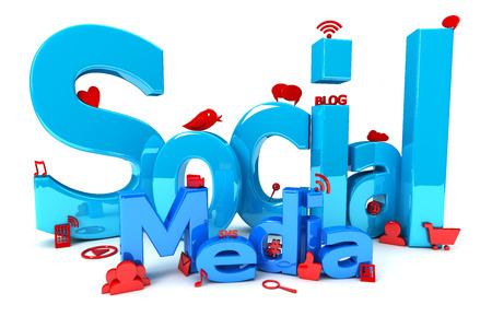communication icons: Social Media