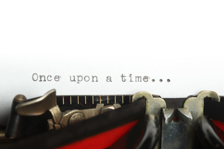 once: Vintage typewriter with once upon a time...