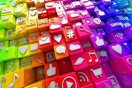 Social media icons Фото со стока