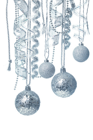Hanging Christmas decorations photo
