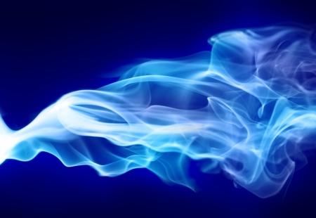 明るい青い煙 写真素材