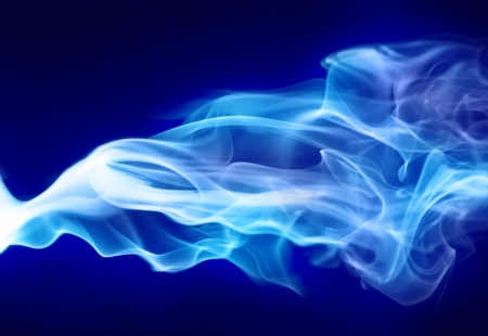 blue smoke: Bright blue smoke
