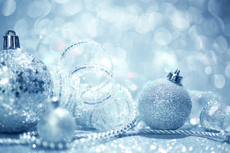 blue christmas ornaments background stock photo 23126222 - Blue Christmas Ornaments