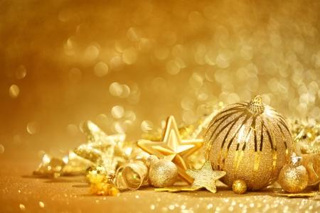 christmas decorations: Golden Christmas