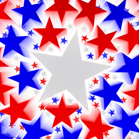 Red, white and blue stars photo