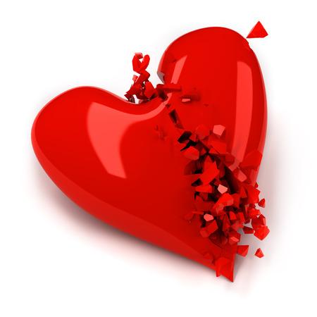 broken heart: Broken heart