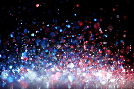 Red, white and blue glitter Stock Photo