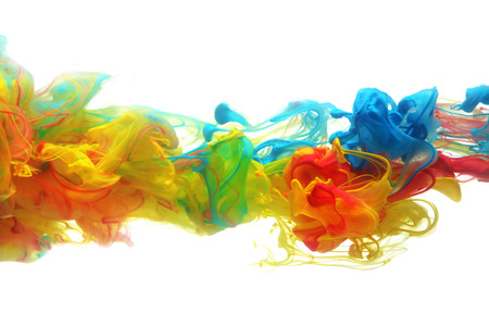 Colorful ink in water abstract photo