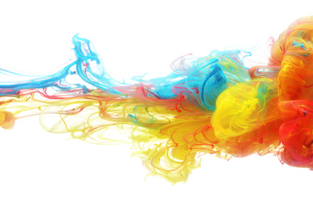 color effect: Colorful ink in water abstract