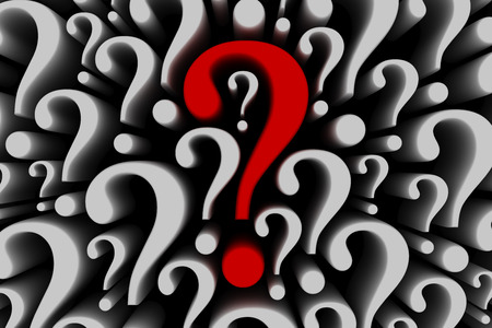 find answers: Question mark background