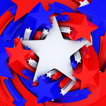 Red, white, and blue stars photo