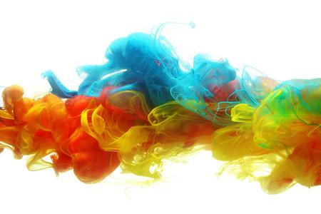 Tinta colorida en agua resumen