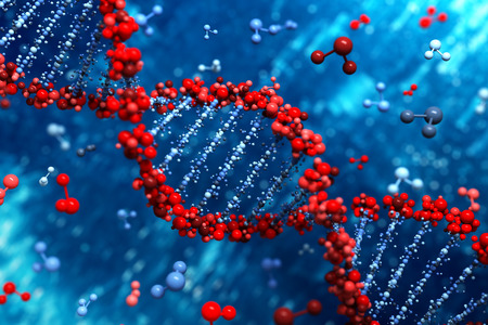 blue dna: DNA background Stock Photo
