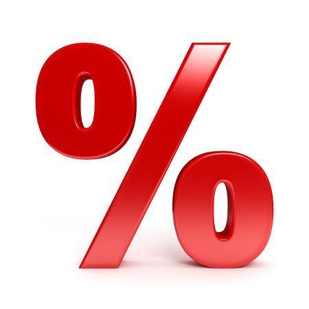 Rode procent teken
