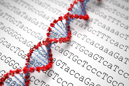 DNA-Hintergrund Standard-Bild - 27915588