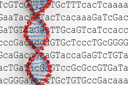 sequencing: DNA background Stock Photo