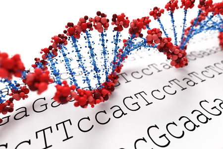 dna double helix: DNA background Stock Photo