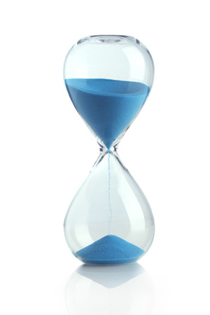 sand watch: Blue hourglass