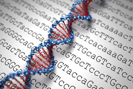 DNA-Hintergrund Standard-Bild - 28835780