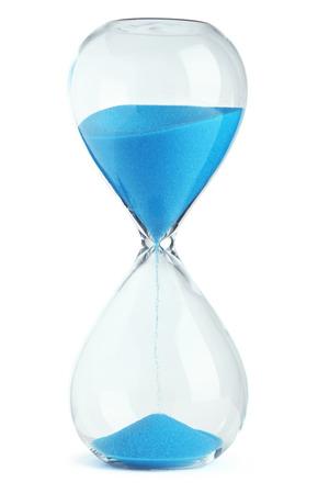 Blauw zandloper Stockfoto