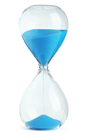 sands of time: Blue hourglass