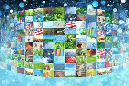 creativity: Collage of images background Stock Photo