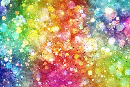 festive background: Rainbow of lights Stock Photo