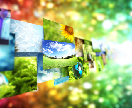 concept images: Collage of images background Stock Photo