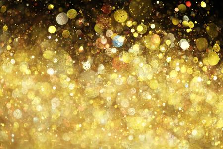 Gold glitter photo