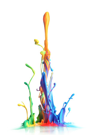 splatter: Colorful paint splashing