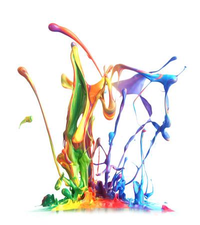 colorful paint: Colorful paint splashing