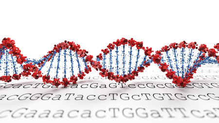 dna sequencing: DNA background Stock Photo