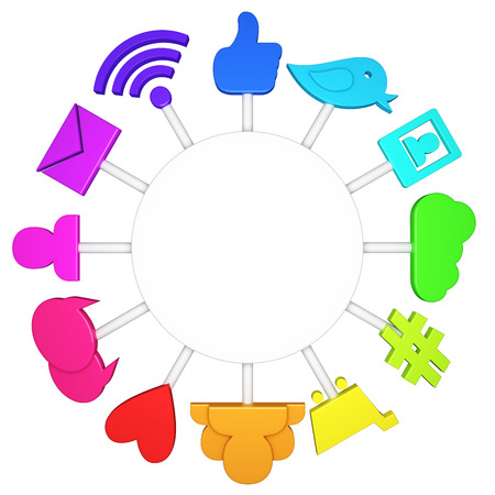wireless communication: Social media symbols